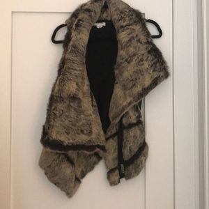 Authentic Helmut Lang fur / leather vest